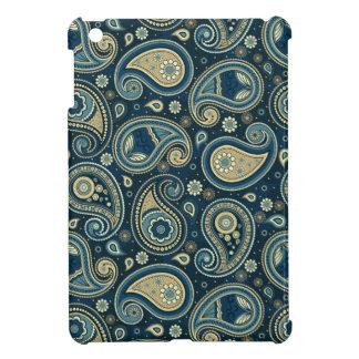 Oro azul del trullo del modelo de Paisley elegante