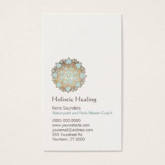 Oro azul salud holística y natural de Lotus Tarjeta De Negocios