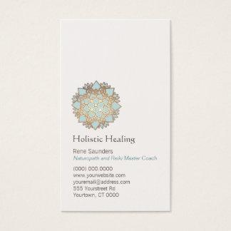 Oro azul salud holística y natural de Lotus Tarjeta De Visita