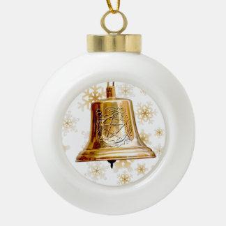 Oro Bell con el pentáculo y la guirnalda - ornamen Adorno