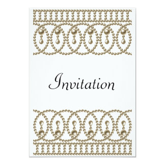 Oro blanco de la invitación de la fiesta de invitación 12,7 x 17,8 cm
