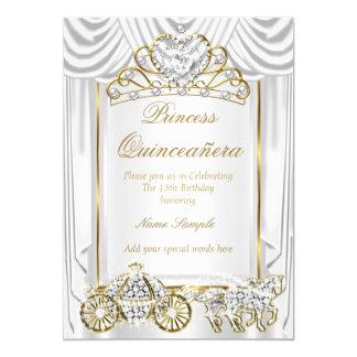 Oro blanco mágico de Quinceanera Invitación 12,7 X 17,8 Cm