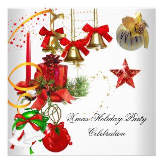 Oro blanco rojo del fiesta de Navidad del navidad Anuncios
