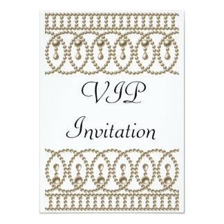 Oro blanco VIP de la invitación de la fiesta de Invitación 12,7 X 17,8 Cm