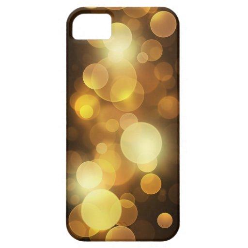 Oro Bokeh iPhone 5 Cárcasas