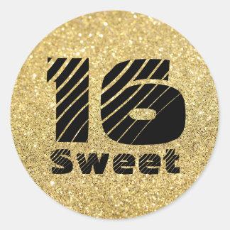 Oro brillante y dulce intrépido pegatina de 16
