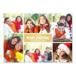 Oro Chevron de la tarjeta de Navidad del collage Comunicado Personalizado