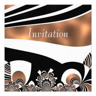 Oro cibernético del arte abstracto de la invitació