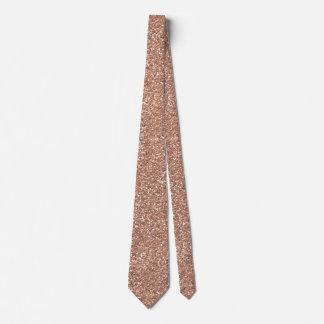 Oro color de rosa corbatas