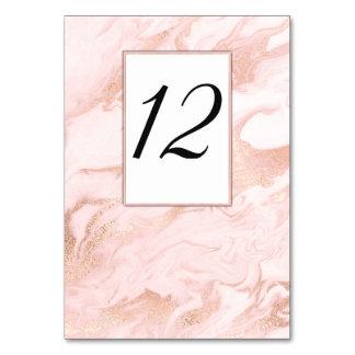 Oro color de rosa veteado casando la tarjeta del