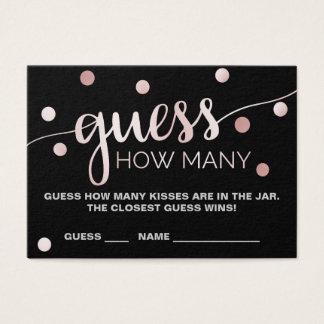 Oro color de rosa y conjetura negra cuántos besan tarjeta de negocios