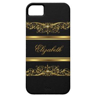 oro con clase elegante del iPhone 5 floral Funda Para iPhone SE/5/5s