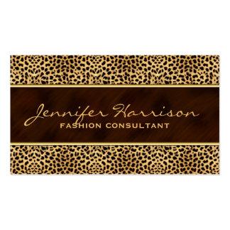 Oro con el estampado de animales del guepardo tarjetas de visita