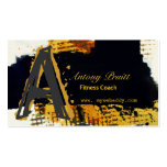 Oro contemporáneo moderno del negro del arte tarjetas de visita