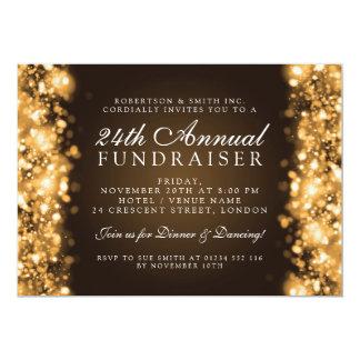Oro corporativo formal de la gala de la recaudador invitación 12,7 x 17,8 cm