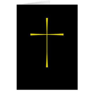 Oro cruzado del libro de oración felicitaciones