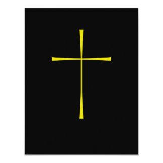 Oro cruzado del libro de oración invitación 10,8 x 13,9 cm