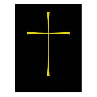 Oro cruzado del libro de oración postal