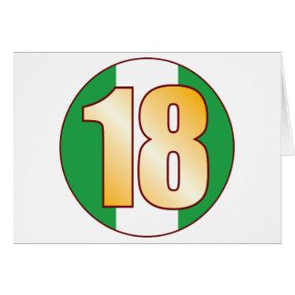 Oro de 18 NIGERIA Tarjeta De Felicitación