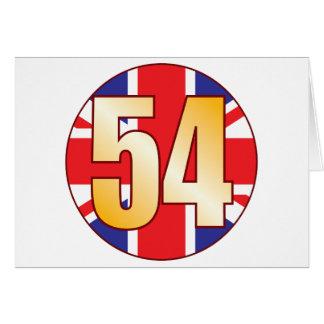 Oro de 54 Reino Unido Tarjeta