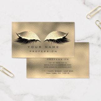 Oro de cristal metálico del brillo de los tarjeta de visita