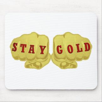 Oro de la estancia alfombrilla de ratón