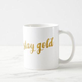Oro de la estancia (sea verdad a sí mismo) taza de café