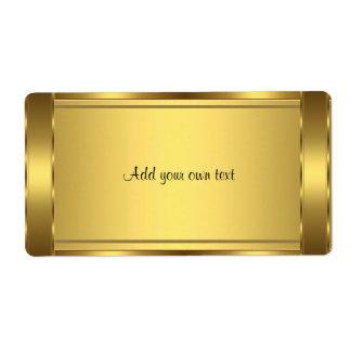 Oro de la etiqueta autoadhesiva grande