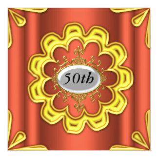 Oro de la fiesta de cumpleaños del caramelo del invitación 13,3 cm x 13,3cm