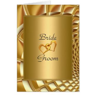 Oro de la invitación del boda