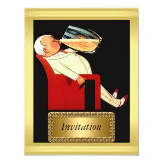 Oro de la invitación y art déco negro invitación 10,8 x 13,9 cm