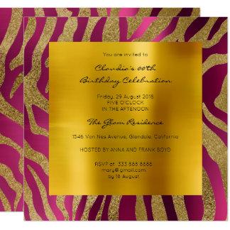 Oro de la mostaza de la frambuesa de la piel invitación 13,3 cm x 13,3cm