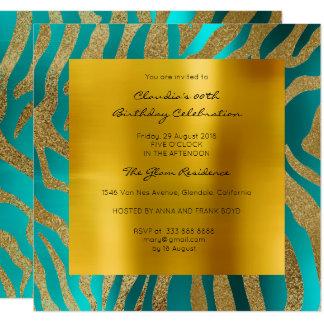 Oro de la mostaza del trullo de la piel animal del invitación 13,3 cm x 13,3cm