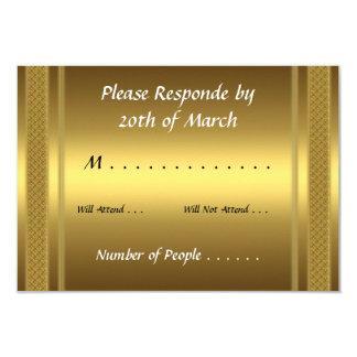 Oro de la tarjeta de RSVP