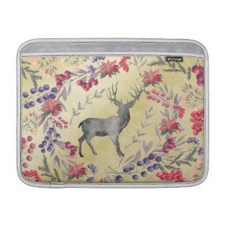 Oro de las bayas del invierno de los ciervos de la funda para MacBook air