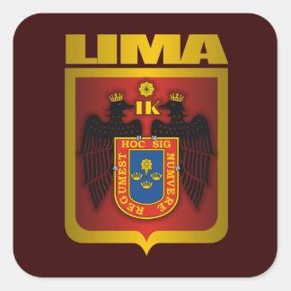 """""""Oro de Lima """" Calcomanias Cuadradas"""