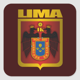 """Oro de Lima "" Pegatina Cuadrada"