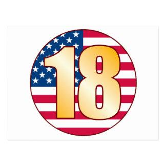Oro de los 18 E.E.U.U. Postal