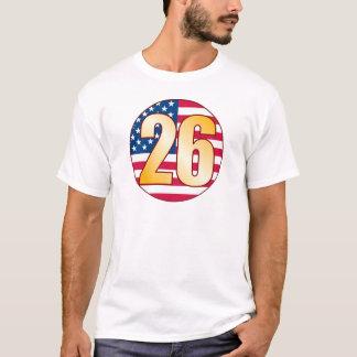 Oro de los 26 E.E.U.U. Camiseta