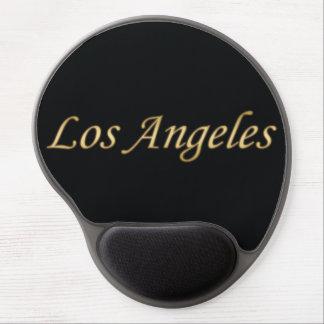 Oro de Los Ángeles - en negro Alfombrillas Con Gel