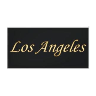 Oro de Los Ángeles - en negro Lienzo Envuelto Para Galerias
