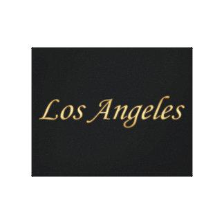 Oro de Los Ángeles - en negro Lona Envuelta Para Galerias