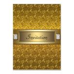 Oro de los remolinos del oro toda la plantilla del anuncio personalizado