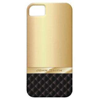 Oro de lujo con el caso conocido de encargo del funda para iPhone SE/5/5s