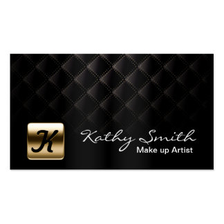 Oro de lujo y tarjeta de visita negra del artista