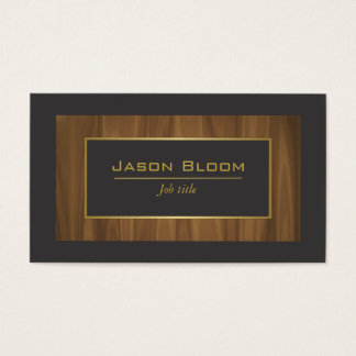 Oro de madera y negro tarjeta de negocios