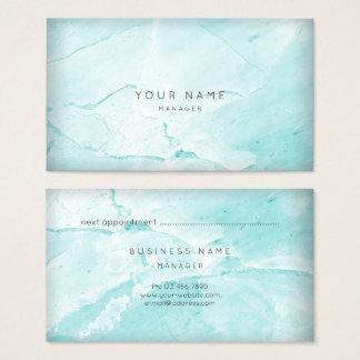 Oro de mármol de la tarjeta de la cita de Tiffany