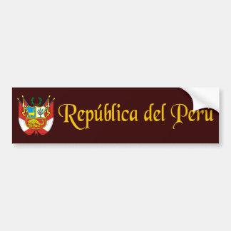 """""""Oro de Perú """" Pegatina Para Coche"""
