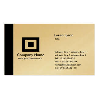 Oro del borde - negro tarjetas de visita