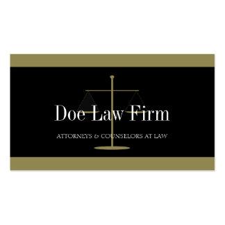 Oro del bufete de abogados/bandera negra tarjeta de visita